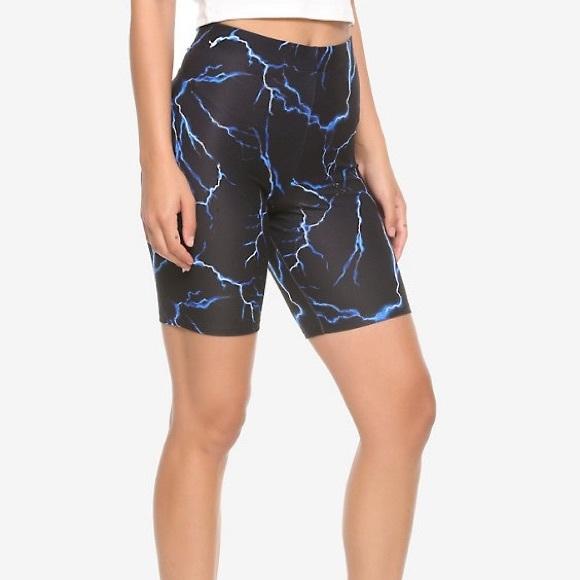 Hot Topic Shorts 425 Blue Lightning Bike Poshmark